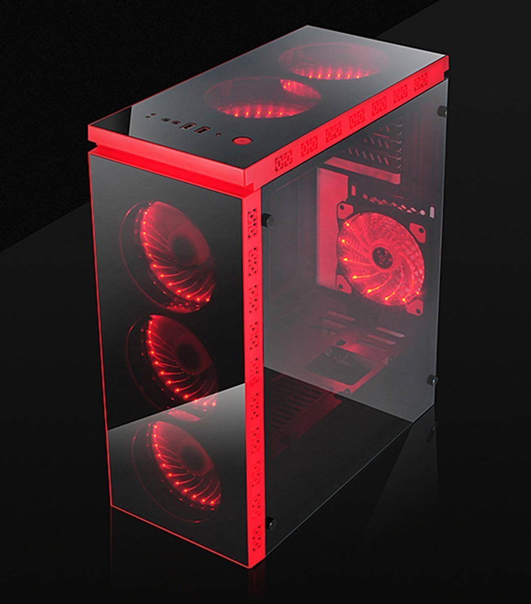 Btz Redline Full Acrylic Side Top Front Inverted Gaming