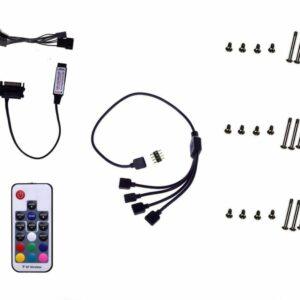 ID-COOLING DF12025-RGB-TRIO 3pcs RGB Fan Pack, RGB Sync with Asus/MSI/Gigabyte