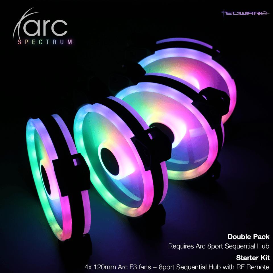 Tecware ARC Spectrum 4 RGB Fans Sync ASUS/ASRock/Gigabyte/MSI Motherboards