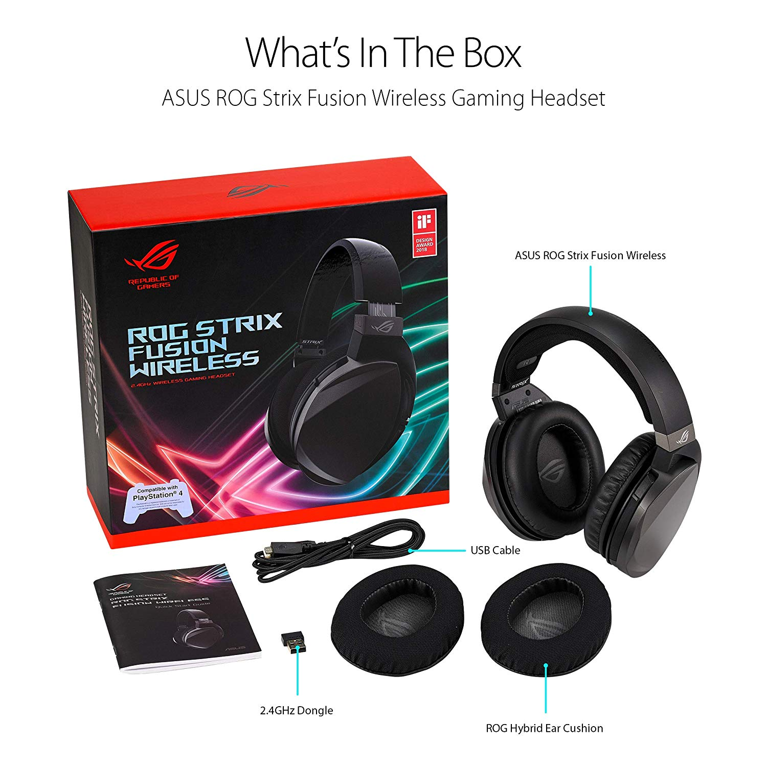 Asus Rog Strix Fusion Wireless Gaming Headset Bermor